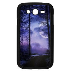 Moonlit A Forest At Night With A Full Moon Samsung Galaxy Grand DUOS I9082 Case (Black)