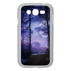 Moonlit A Forest At Night With A Full Moon Samsung Galaxy Grand DUOS I9082 Case (White)