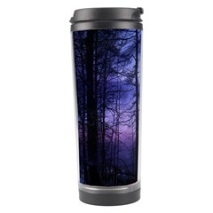 Moonlit A Forest At Night With A Full Moon Travel Tumbler