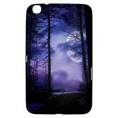 Moonlit A Forest At Night With A Full Moon Samsung Galaxy Tab 3 (8 ) T3100 Hardshell Case