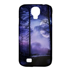 Moonlit A Forest At Night With A Full Moon Samsung Galaxy S4 Classic Hardshell Case (PC+Silicone)