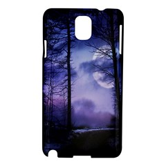 Moonlit A Forest At Night With A Full Moon Samsung Galaxy Note 3 N9005 Hardshell Case