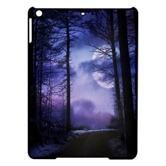 Moonlit A Forest At Night With A Full Moon iPad Air Hardshell Cases