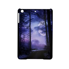 Moonlit A Forest At Night With A Full Moon iPad Mini 2 Hardshell Cases