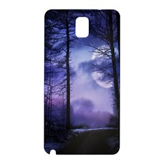 Moonlit A Forest At Night With A Full Moon Samsung Galaxy Note 3 N9005 Hardshell Back Case
