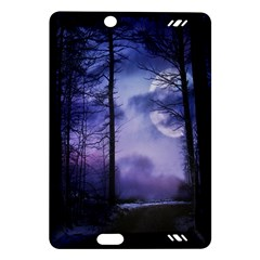 Moonlit A Forest At Night With A Full Moon Amazon Kindle Fire Hd (2013) Hardshell Case