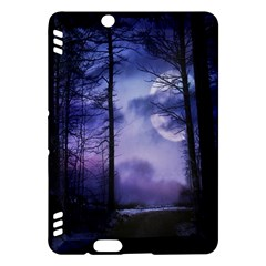 Moonlit A Forest At Night With A Full Moon Kindle Fire HDX Hardshell Case