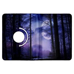 Moonlit A Forest At Night With A Full Moon Kindle Fire HDX Flip 360 Case