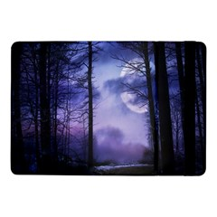 Moonlit A Forest At Night With A Full Moon Samsung Galaxy Tab Pro 10 1  Flip Case