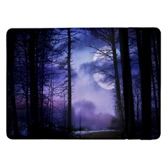 Moonlit A Forest At Night With A Full Moon Samsung Galaxy Tab Pro 12 2  Flip Case