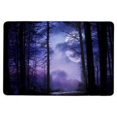 Moonlit A Forest At Night With A Full Moon Ipad Air Flip