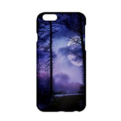 Moonlit A Forest At Night With A Full Moon Apple iPhone 6/6S Hardshell Case