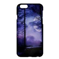 Moonlit A Forest At Night With A Full Moon Apple iPhone 6 Plus/6S Plus Hardshell Case