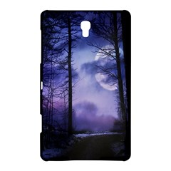 Moonlit A Forest At Night With A Full Moon Samsung Galaxy Tab S (8 4 ) Hardshell Case