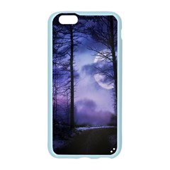 Moonlit A Forest At Night With A Full Moon Apple Seamless iPhone 6/6S Case (Color)