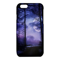Moonlit A Forest At Night With A Full Moon iPhone 6/6S TPU Case