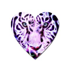 Fractal Wire White Tiger Heart Magnet
