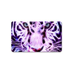 Fractal Wire White Tiger Magnet (Name Card)