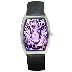 Fractal Wire White Tiger Barrel Style Metal Watch