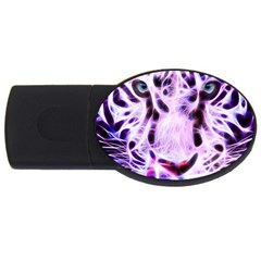Fractal Wire White Tiger Usb Flash Drive Oval (4 Gb)