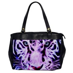 Fractal Wire White Tiger Office Handbags