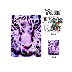 Fractal Wire White Tiger Playing Cards 54 (mini)
