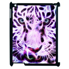 Fractal Wire White Tiger Apple iPad 2 Case (Black)