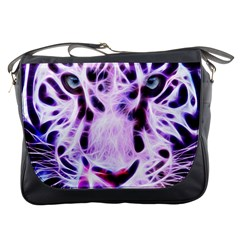 Fractal Wire White Tiger Messenger Bags