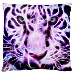 Fractal Wire White Tiger Large Cushion Case (Two Sides)