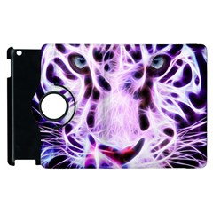 Fractal Wire White Tiger Apple iPad 2 Flip 360 Case