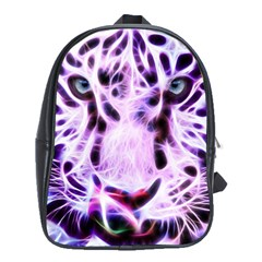 Fractal Wire White Tiger School Bags (XL)