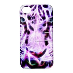 Fractal Wire White Tiger Apple iPhone 4/4S Hardshell Case with Stand