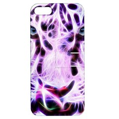 Fractal Wire White Tiger Apple iPhone 5 Hardshell Case with Stand