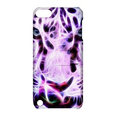 Fractal Wire White Tiger Apple Ipod Touch 5 Hardshell Case With Stand