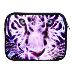 Fractal Wire White Tiger Apple iPad 2/3/4 Zipper Cases