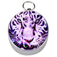 Fractal Wire White Tiger Silver Compasses