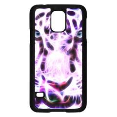Fractal Wire White Tiger Samsung Galaxy S5 Case (Black)