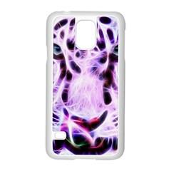 Fractal Wire White Tiger Samsung Galaxy S5 Case (White)