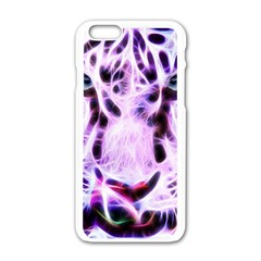 Fractal Wire White Tiger Apple iPhone 6/6S White Enamel Case