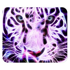 Fractal Wire White Tiger Double Sided Flano Blanket (small)