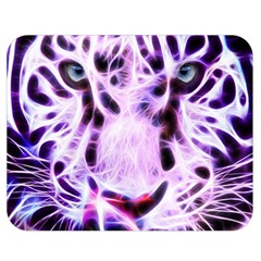 Fractal Wire White Tiger Double Sided Flano Blanket (medium)