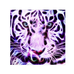 Fractal Wire White Tiger Small Satin Scarf (Square)