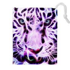 Fractal Wire White Tiger Drawstring Pouches (xxl)