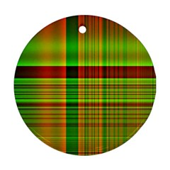 Multicoloured Background Pattern Ornament (round)