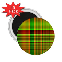 Multicoloured Background Pattern 2.25  Magnets (10 pack)