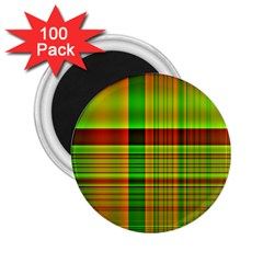 Multicoloured Background Pattern 2 25  Magnets (100 Pack)