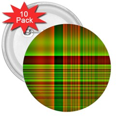 Multicoloured Background Pattern 3  Buttons (10 pack)