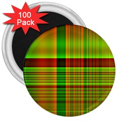 Multicoloured Background Pattern 3  Magnets (100 Pack)