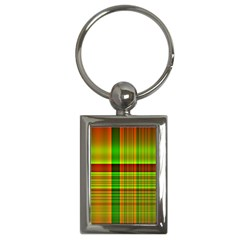 Multicoloured Background Pattern Key Chains (Rectangle)