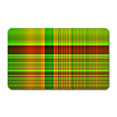Multicoloured Background Pattern Magnet (rectangular)